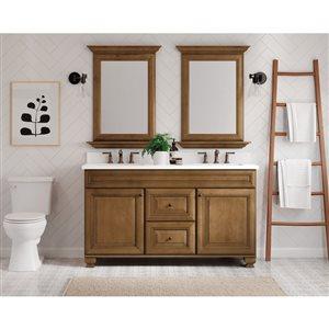 Diamond FreshFit Ballantyne 60-in Birch Bathroom Vanity