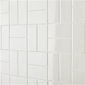 American Olean Starting Line White Gloss Ceramic Subway Wall Tile Common 3 In X 6 In Actual 3 In X 6 In Lowe S Canada