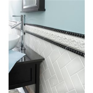 American Olean Starting Line White Gloss Ceramic Subway