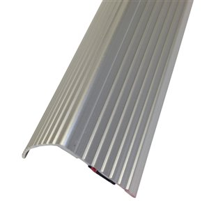 M-D 1.22-in x 36-in Silver Stair Nose Floor Moulding