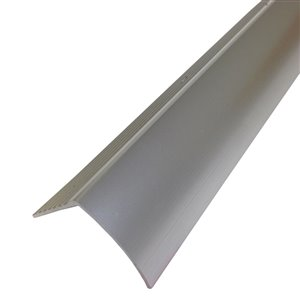 M-D 1.281-in x 36-in Polished Silver Stair Nose Floor Moulding