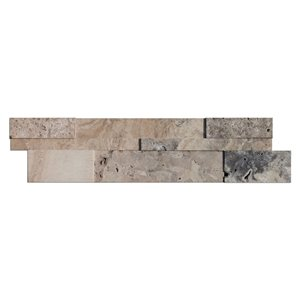 Avenzo 6-in x 24-in Silver Travertine Linear Mosaic Wall Tile