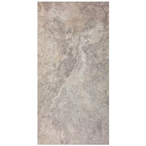 Avenzo 24-in x 12-in Silver/Honed Indoor Natural Marble Wall and Floor Tile