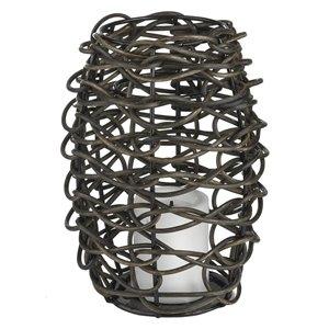 4-in Grapevine Resin Outdoor Lantern