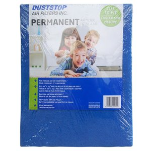 Duststop 20-in x 25-in x 1-in Permanent Washable Air Filter