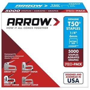 T50 1/4-in Heavy-Duty Staples (5,000-Count)