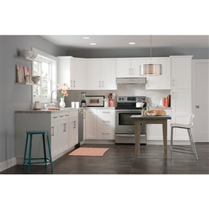 Nimble by Diamond 30-in W x 24-in H x 0.75-in D White Base Cabinet Door and Drawer Front