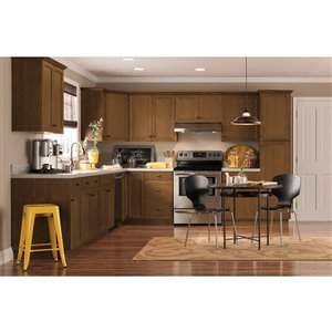 Nimble by Diamond 36-in W x 24-in H x 0.75-in D Mocha Base Cabinet Door and Drawer Front