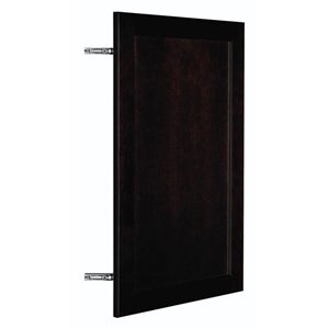 Nimble by Diamond 18-in W x 30-in H x 0.75-in D Chocolate Wall Cabinet Door