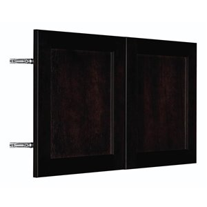 Nimble by Diamond 30-in W x 18-in H x 0.75-in D Chocolate Wall Cabinet Door