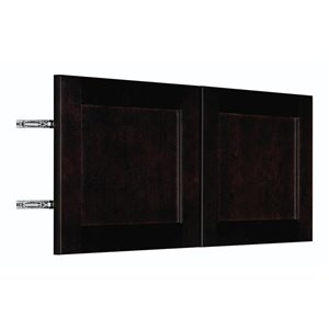 Nimble by Diamond 30-in W x 14-in H x 0.75-in D Chocolate Wall Cabinet Door
