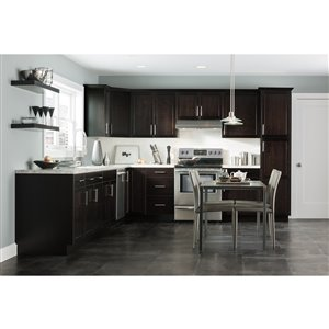 Nimble by Diamond 36-in W x 14-in H x 0.75-in D Chocolate Wall Cabinet Door