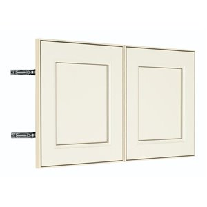 Nimble by Diamond 30-in W x 14-in H x 0.75-in D Toasted Antique Wall Cabinet Door