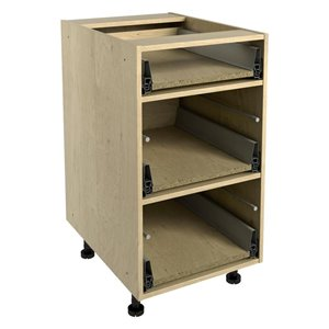 Nimble by Diamond 18-in x 30-in Maple 3-Drawer Chest Base