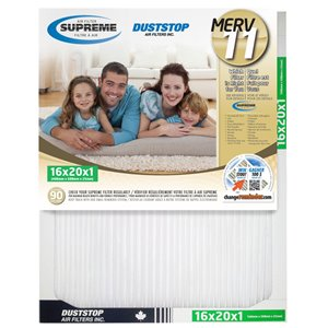 Duststop 16-in x 20-in x 1-in Supreme Electrostatic Pleated Air Filter