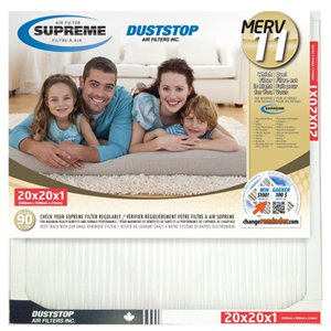 Duststop 20-in x 20-in x 1-in Supreme Electrostatic Pleated Air Filter