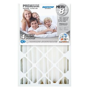 Duststop 16-in x 25-in x 4-in Premium  Electrostatic Pleated Air Filter