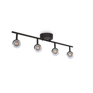Allen Roth 4 Light Bronze Dimmable Integrated Led Fixed