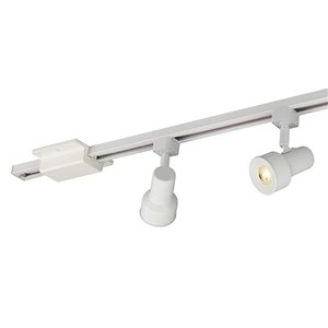 Project Source 3-Light 42-in Matte White Dimmable Led Step Linear Track Lighting Kit