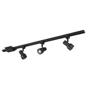 Project Source 3-Light 42-in Matte Black Dimmable Led Step Linear Track Lighting Kit