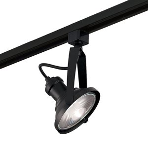 Project Source 1-Light Dimmable Matte Black Gimbal Linear Track Lighting Head