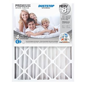 Duststop 20-in x 25-in x 4-in Premium Electrostatic Pleated Air Filter