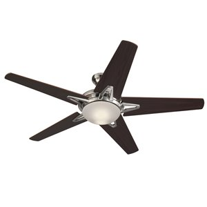 Harbor Breeze Avon 52-in Brushed Nickel 5-Blade Multi-Position Ceiling Fan with Light Kit