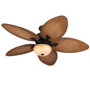 Harbor Breeze Chalmonte 52 In Oil Rubbed Bronze Incandescent Indoor Outdoor Residential Ceiling