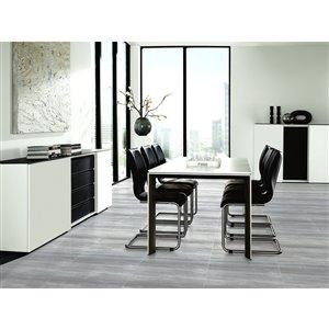 Faber 12-in x 24-in Teakwood Silver Porcelain Lappato Floor Tile