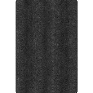 KORHANI 23-in x 35-in Conrad Black Rectangular Door Mat