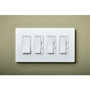 Legrand radiant 4-Gang Decorator Rocker Wall Plate (White)