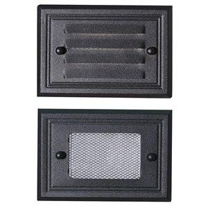 Paradise Black Low Voltage LED Half Brick Deck Light