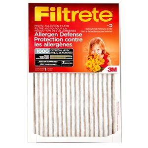 3M 14-in x 25-in x 1-in 1000 MRP Micro Allergen Defense Electrostatic Pleated Air Filter