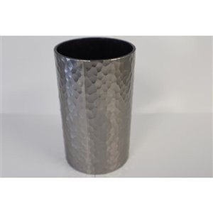 Moda at Home Hammered Silver Plastic Tumbler