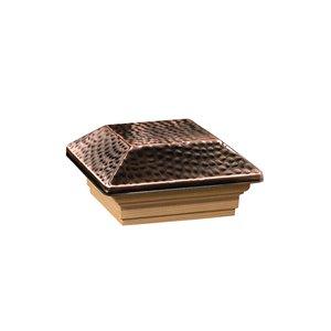 Deckorators 4-in x 4-in Copper Cedar Deck Post Cap