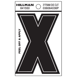 Hillman 3-in Black House Letter