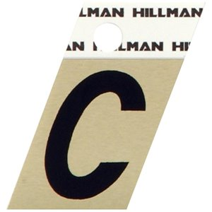 Hillman 1 1/2-in Black and Gold Aluminum Angle Cut Letters