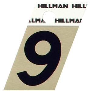 Hillman 1 1/2-in Black and Gold Aluminum Angle Cut House Numbers