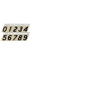 Hillman 3-in Black and Gold Angle Cut Aluminum Number