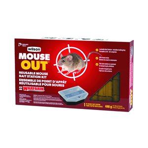 Wilson Warfarin Reusable Mouse Bait Station with 16 block refills