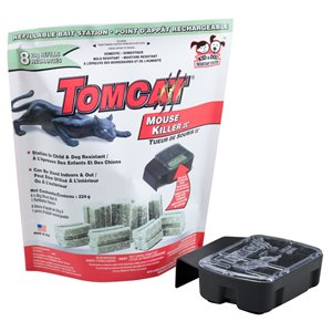 TOMCAT Refillable Mouse Bait Station 224 g - (8-pack)