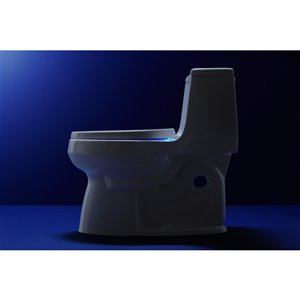 KOHLER Reveal Plastic Round Slow-Close Toilet Seat