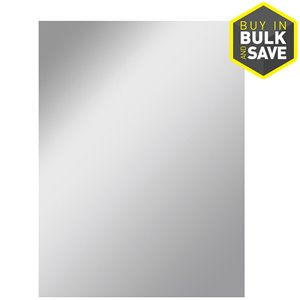 Style Selections 30-in x 36-in Silver Polished Rectangle Frameless Traditional Wall Mirror