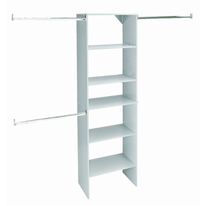 ClosetMaid SuiteSymphony 25-in Starter Tower Pure White