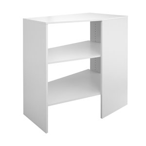 ClosetMaid SuiteSymphony Pure White 3-Shelf Stackable Corner Unit