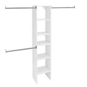 ClosetMaid SuiteSymphony Pure White 16-in Closet Tower Kit