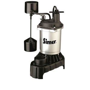 Simer 1/3 HP Submersible Sump Pump