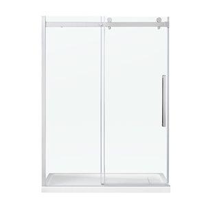 OVE Decors Bel 58.25-in to 58.75-in W x 78.75-in H Frameless Sliding Shower Door