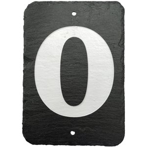 Enviromate 7-in Black Slate House Number