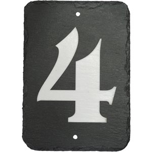 Enviromate 7-in Black Slate House Number